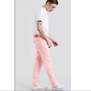 Levi's 501 93 straight pink button fly jeans NWT
